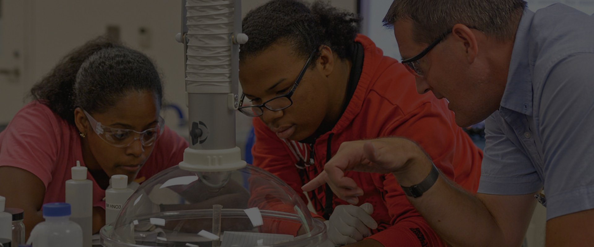 diverse students learning technical skills